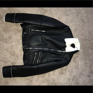 Zara leather jacket.